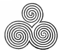 Traditional Celtic spiral pattern