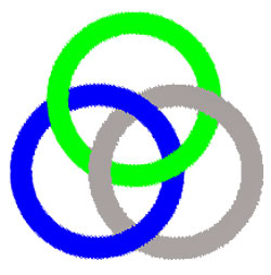 Borromean rings and knots