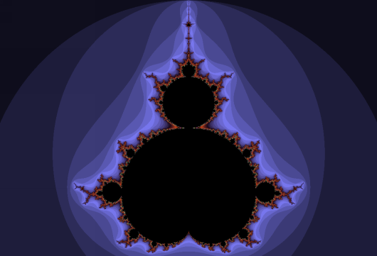 Fractal representation of Mandelbrot set