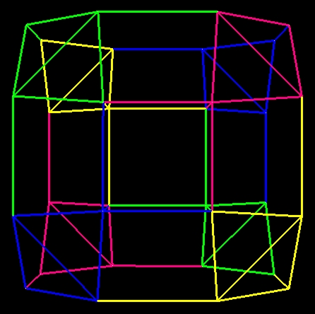 Morphing of drilled truncated cube