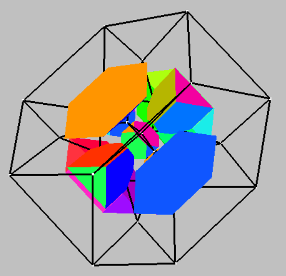 Compound of 5 cubes