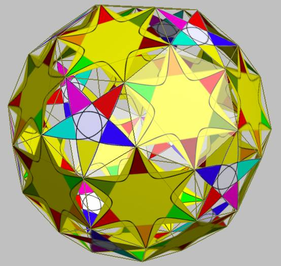 Animation suggestive of the dynamics of the demonique in hyperbolic space