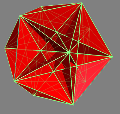 Icosahedron showing all 15 golden rectangles