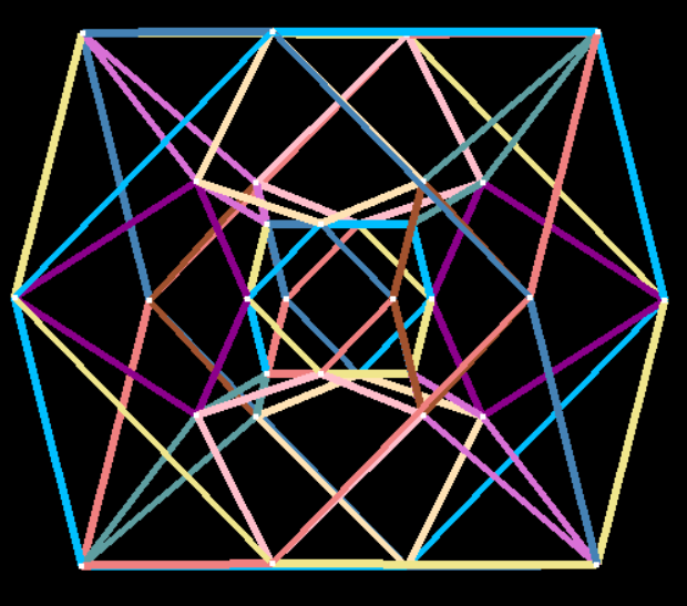 Animation of rectified tesseract