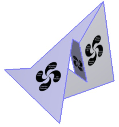 Mapping of variant  of lauburu onto Szilassi polyhedron