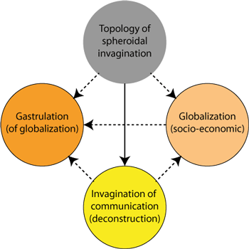 Processes engendering gastrulation of globalization