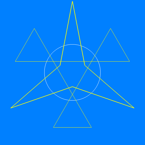 Faceting diagram of augmented tetrahedron