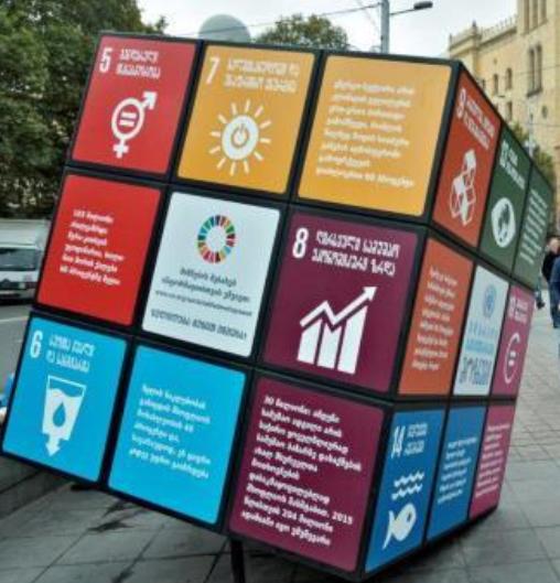 Sustainable development goals unfolding on Rubik Cube