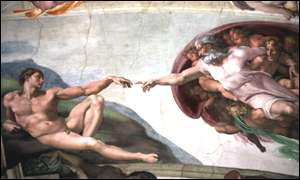 CreatCreation of Man by Michelangelo (Sistine Chapel)